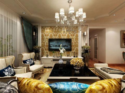 欧式风格150平米三室两厅室内装修效果图