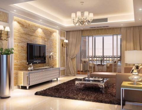 欧式风格100平米3房2厅房子装饰效果图