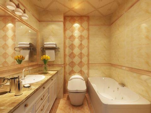 卫生间背景墙法式风格装修设计图片