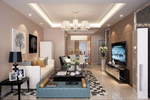 简约风格85平米小户型房子装饰效果图
