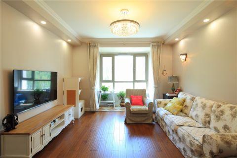 混搭风格120平米三房两厅新房装修效果图