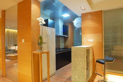 厨房吧台后现代风格装潢图片