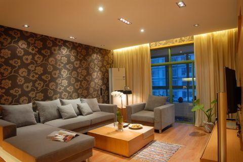 后现代风格80平米两房两厅新房装修效果图