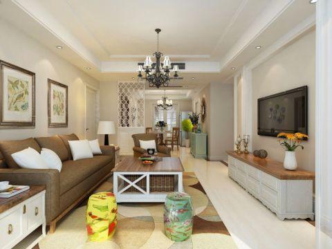 简欧风格134平米3房2厅房子装饰效果图