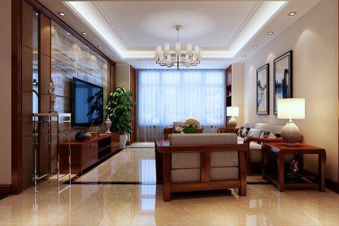 客厅灯具新中式风格装潢设计图片