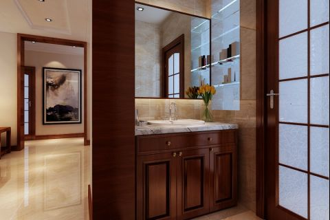 卫生间洗漱台新中式风格装潢图片