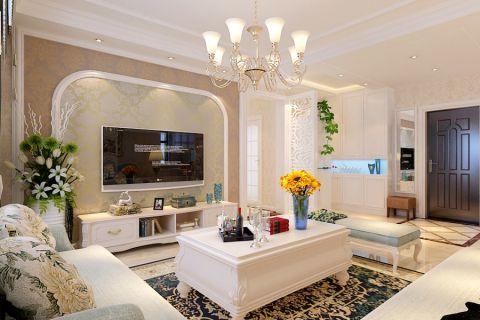 客厅隔断简欧风格装修设计图片