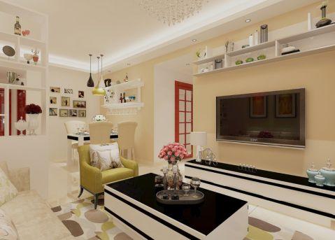 现代风格98平米2房2厅房子装饰效果图