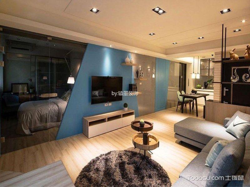 客厅 背景墙_现代简约风格120平米三室两厅室内装修效果图