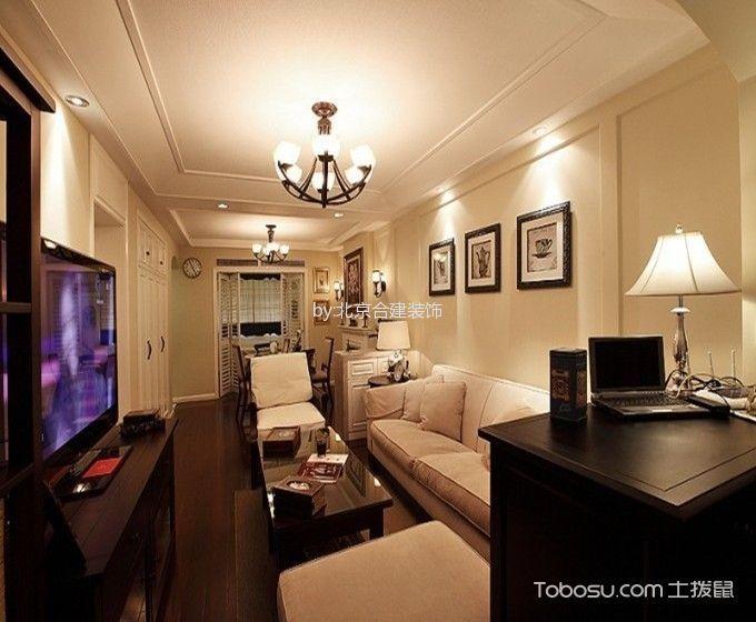 美式风格80平米2房2厅房子装饰效果图
