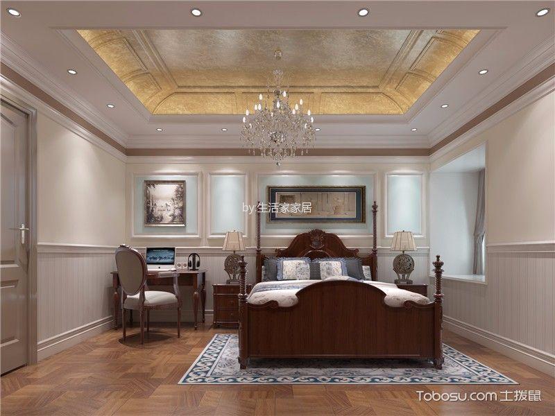 卧室 吊顶_欧式风格134平米三房两厅新房装修效果图