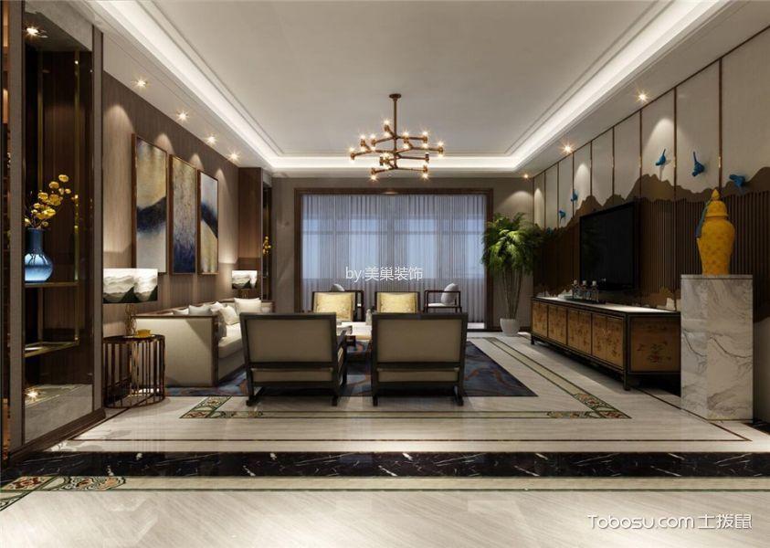 客厅 背景墙_中式风格220平米4房2厅房子装饰效果图