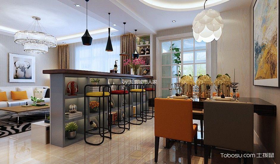 餐厅 吧台_现代简约风格180平米4房2厅房子装饰效果图