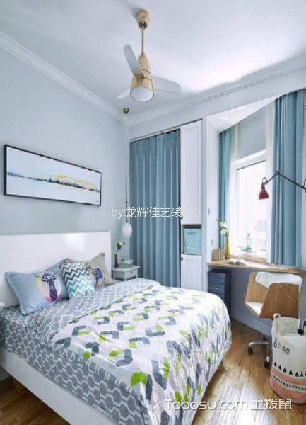 卧室白色吊顶北欧风格装潢效果图