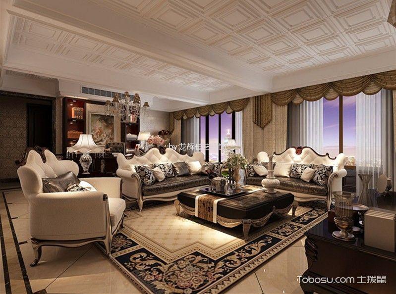 新古典风格450平米别墅室内装修效果图