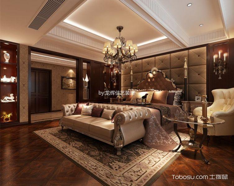 卧室米色灯具新古典风格装饰效果图