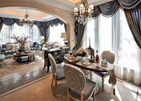 餐厅窗帘法式风格装饰设计图片