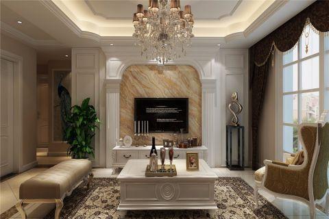 客厅茶几欧式风格装饰设计图片