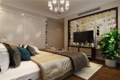 卧室白色隔断简欧风格效果图