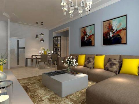 现代简约风格100平小户型室内装修效果图