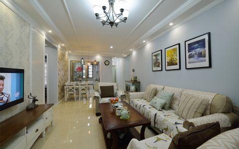 美式风格125平米4房2厅房子装饰效果图