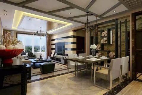 吴中北国之春120平米后现代三居室装修效果图