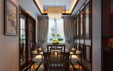 餐厅推拉门中式风格装饰图片