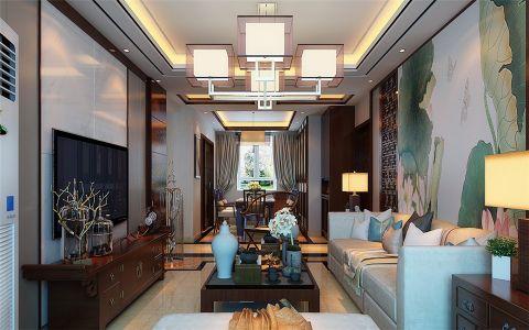 客厅灯具中式风格装饰设计图片