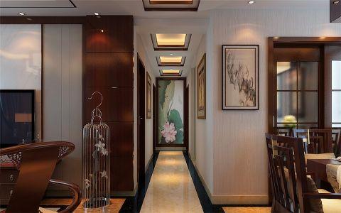 玄关走廊中式风格效果图