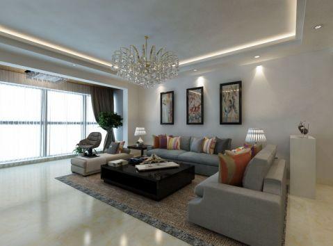 现代风格152平米复式新房装修效果图