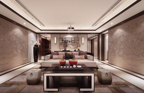 中式风格300平米别墅房子装饰效果图