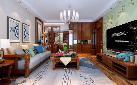 新中式风格150平米大户型房子装饰效果图