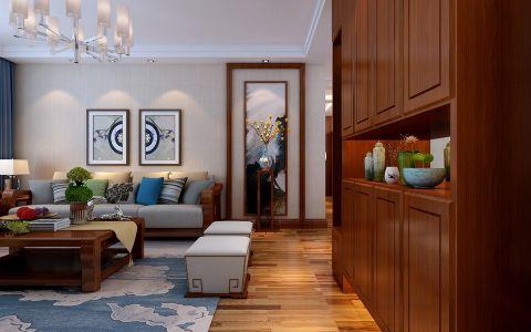 客厅新中式风格装修图片
