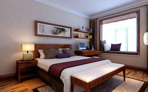 卧室地板砖新中式风格装潢设计图片