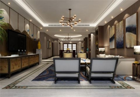 客厅灯具中式风格装饰图片
