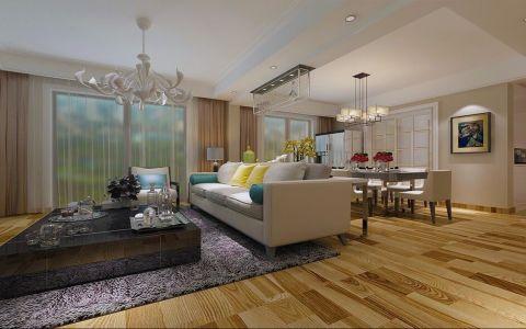 简约风格120平米大户型房子装饰效果图