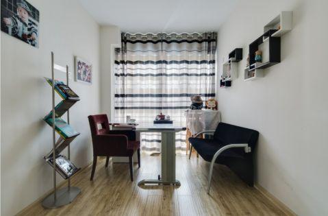 书房背景墙现代简约风格装潢设计图片