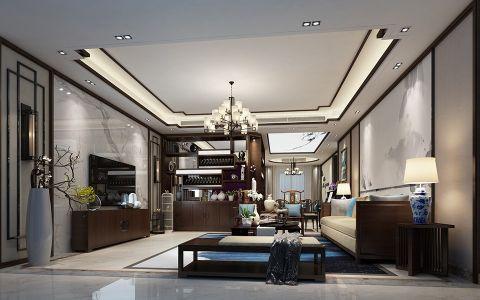现代中式风格150平米4房2厅房子装饰效果图