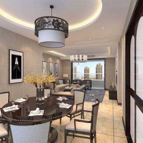 餐厅吊顶新中式风格装修图片
