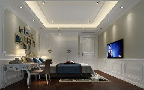 卧室照片墙现代中式风格装饰设计图片