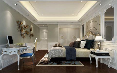 卧室书桌现代中式风格装潢设计图片