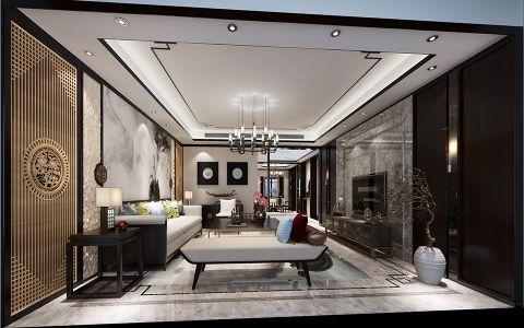 中式风格134平米4房2厅房子装饰效果图