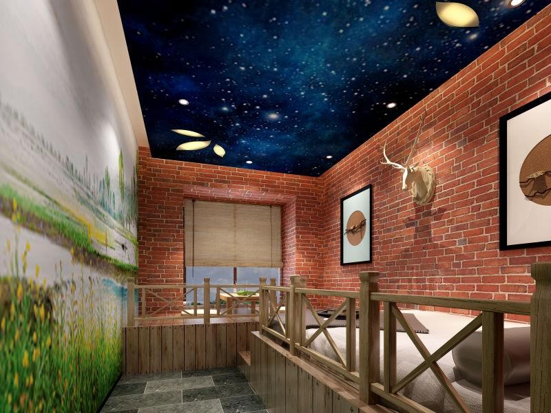 3室2卫2厅120平米混搭风格