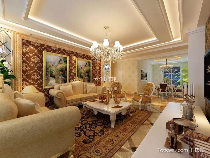 欧式风格200平米三房两厅新房装修效果图