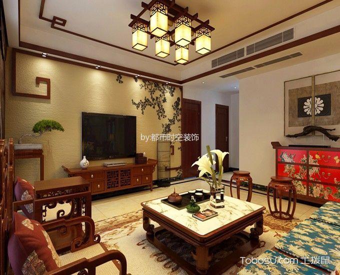 客厅 背景墙_现代中式风格150平米4房2厅房子装饰效果图