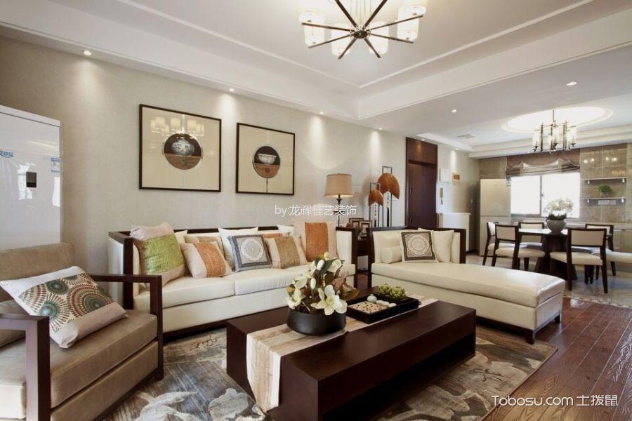 新中式风格110平米两室两厅室内装修效果图