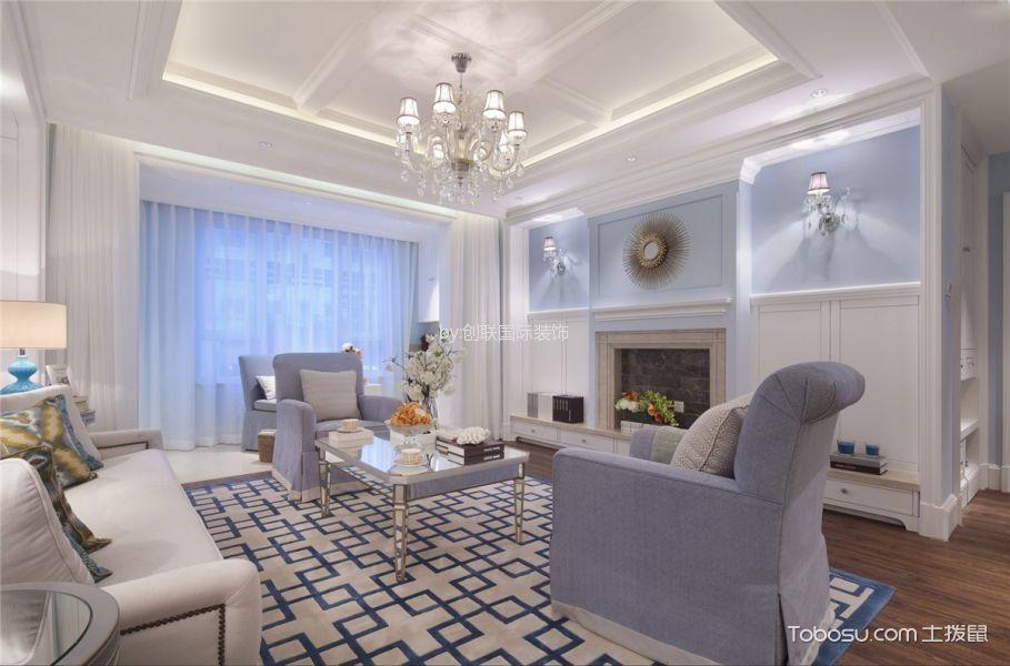 美式风格90平米3房2厅房子装饰效果图
