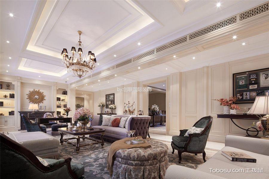 美式风格190平米四房2厅房子装饰效果图