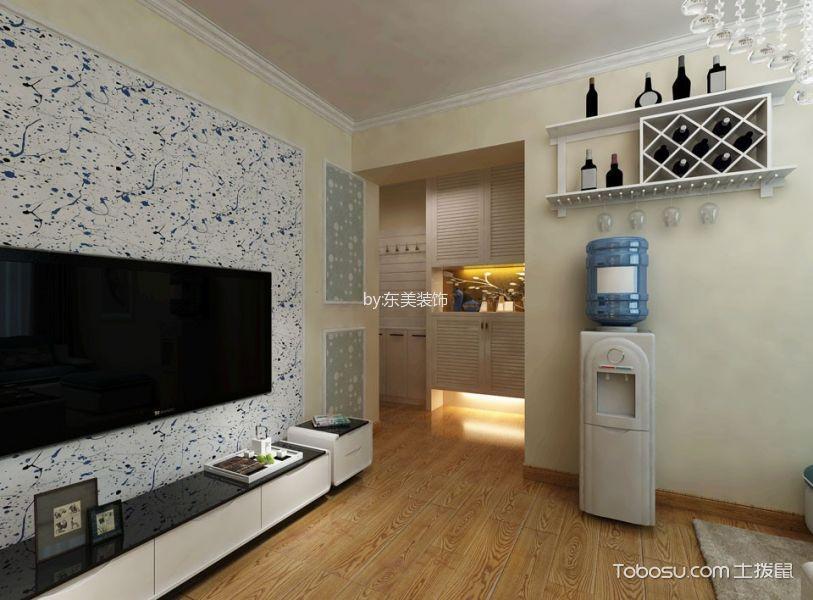 客厅黄色地板砖现代风格装修效果图