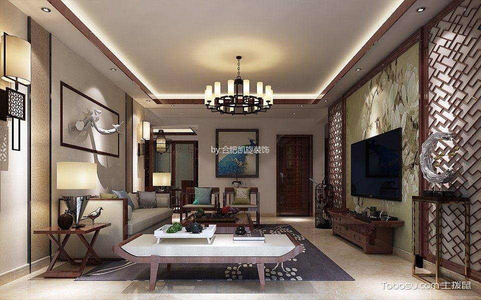 客厅 灯具_中式风格170平米大户型房子装饰效果图